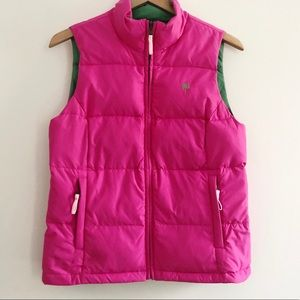 Lilly Pulitzer Down Reversible Syd Vest Pink Green